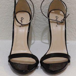 Black Qupid sandal heels